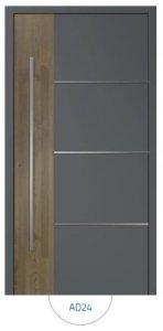 Drzwi wejściowe zewnętrzne Aluprof MB86 wzór AD24