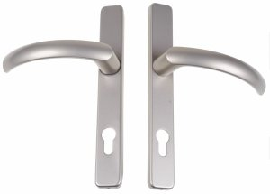 Klamka-klamka drzwiowa Jowisz 32 P Satynowy 92mm DS