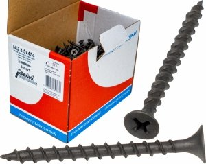 Wkręty czarne płyt gk karton gips/drewn 3,5x45 500szt. NGc