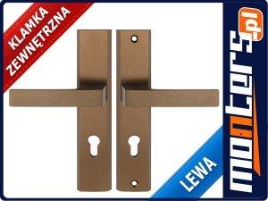 Klamka do drzwi bezpieczna TOTAL PATYNA LEWA 92mm