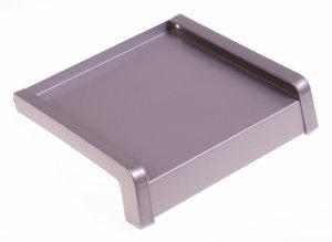Parapet zewnętrzny stalowy srebrny RAL 9006 200mm 1mb