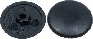 Zaślepki TX30 do wkrętów 7,5mm okien czarne 200szt