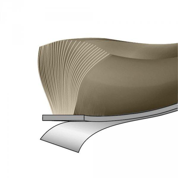 Uszczelka szczotkowa 6,9x6mm samoprzylepna szara 1m