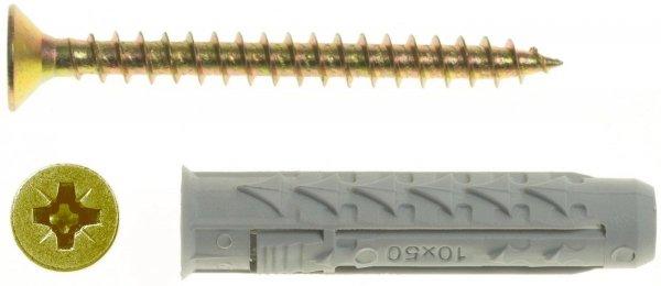BX6+US3,5X35/200 Kołek rozporowy BX+wkręt stożkowy