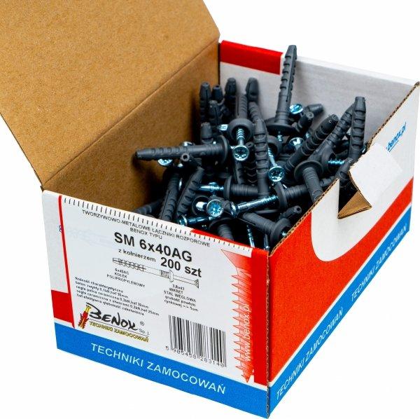 Kołki rozporowe 6x40 AG szybkiego montażu 200szt