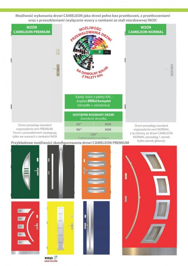 Drzwi wejściowe zewnętrzne Wikęd Premium wzór 38
