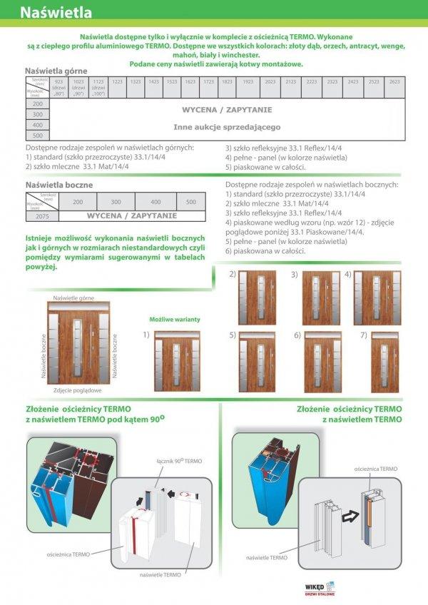 Drzwi wejściowe zewnętrzne Wikęd Premium wzór 9b