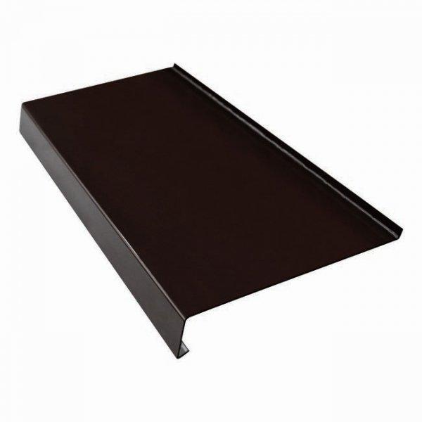 Parapet zewnętrzny stalowy blacha brąz 8019 350mm 1mb