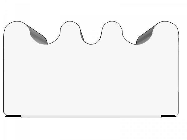 Uszczelka samoprzylepna biała 15x8 (SD-84) 50m
