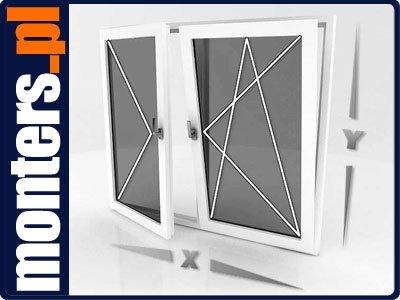 Okno PCV 1465x1635 R+UR prawe białe