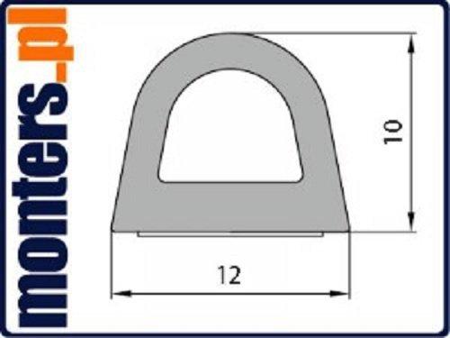 Uszczelka D 12x10 samoprzylepna czarna (SD-54) 50m
