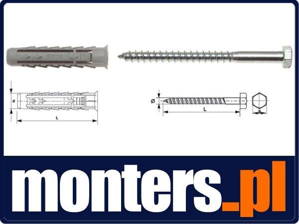 BX12+KL8X80/50 Kołek rozporowy BX+wkręt na klucz