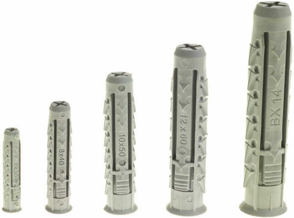 BX 10x50 kołek czterodzielny pusty 100szt.
