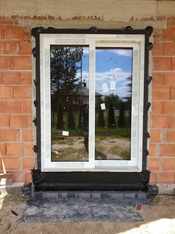 Taśma EPDM Pełny klej 5cm/20m folia membrana okna