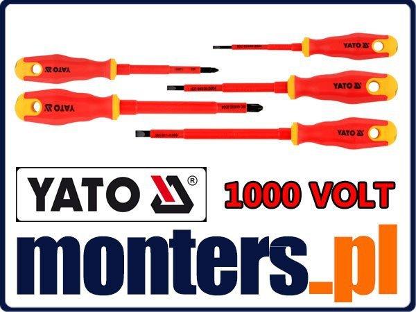Zestaw wkrętaków izolowanych 1000V 5cz YATO 2827