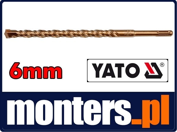 Wiertło do betonu 6x110mm sds plus 3poin YATO 4162