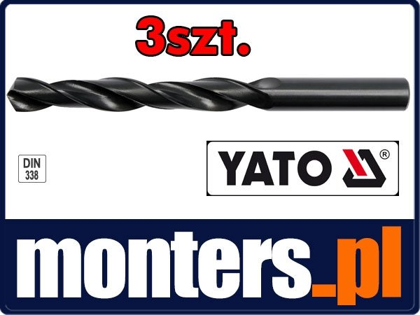 Wiertło do stali metalu hss 12mm YATO 4456 3szt