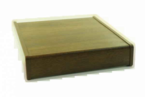 Parapet wewnętrzny plastikowy PCV orzech 350mm 1mb