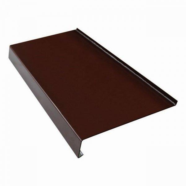 Parapet zewnętrzny stalowy blacha brąz 8017 350mm 1mb