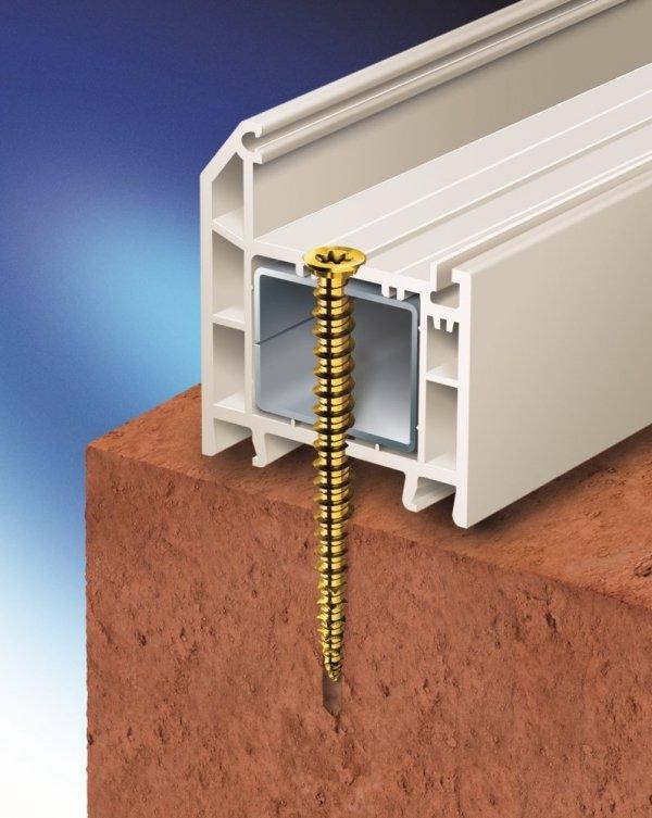 SKO 7,5x152 Wkręt do montażu okien i drzwi 100szt.