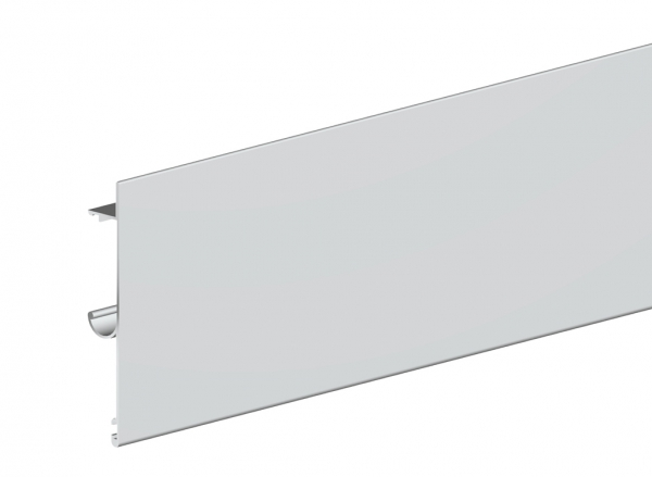 Maskownica do prowadnicy H2 drzwi 1800mm srebrna płaska herkules