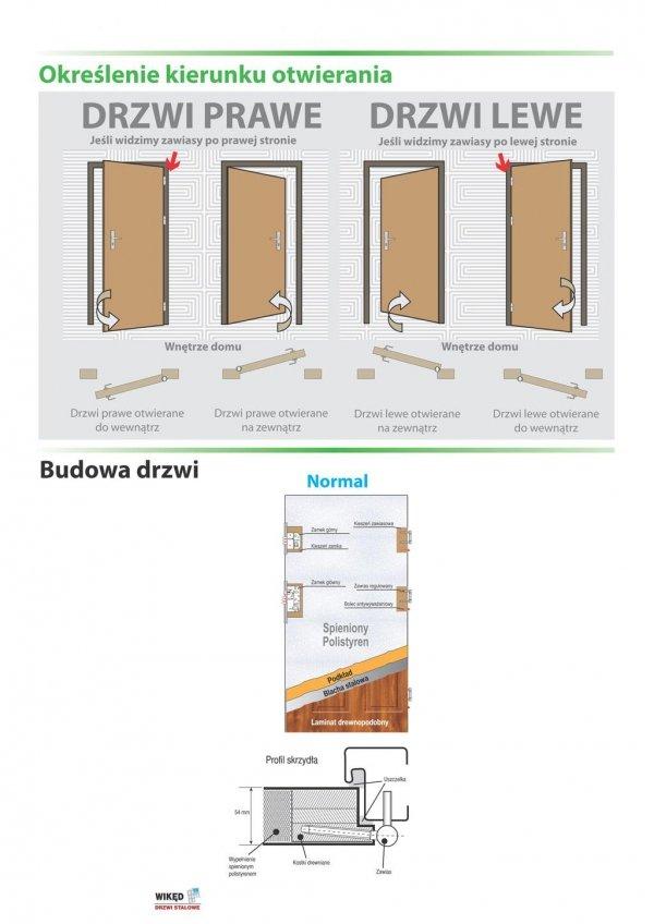 Drzwi wejściowe zewnętrzne Wikęd Premium wzór 36