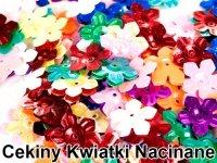 Cekiny Kwiatki Nacinane