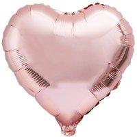 Balon Foliowy Serce Różowe Złoto [Komplet - 5 sztuk]