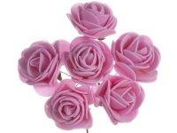 Różyczki z Pianki Róż 6szt [Komplet 12 pęczków]