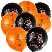 Balony Halloween Dynia/Szkielet [Komplet - 5 zestawów]