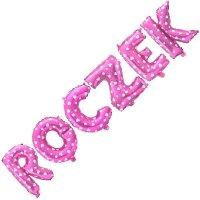 Balon Foliowy Napis ROCZEK różowy [Komplet - 2 opakowania]