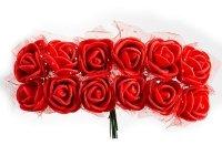 Różyczki z Pianki Na Druciku Czerwone [Zestaw - 5 kompletów po 144 szt]
