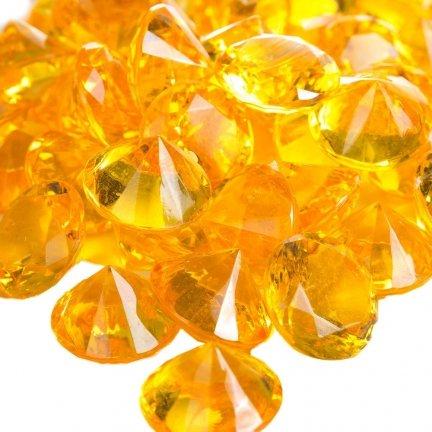 Diamenciki Kryształki Złote 19mm  [ Komplet - 10 Paczek]