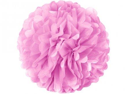 Pompony Papierowe Różowe 35cm Duże [Komplet - 20 Sztuk]