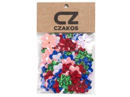 Cekiny Kwiatki 14mm Szkolne Mix - [ Komplet - 20 sztuk]