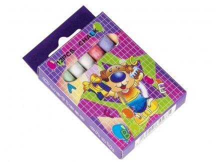 Kolorowa Kreda 12szt  [Zestaw- 4 Kartony ]