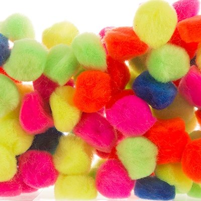 Pompony Mix Neon 2cm 80szt [Komplet 10 paczek]