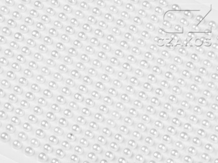Perełki samoprzylepne 6mm Perłowy [10 Blistrów]
