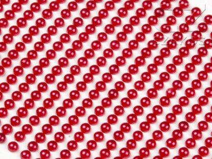 Perełki samoprzylepne 8mm Czerwony [10 Blistrów]