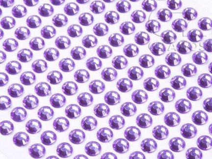 Kryształki samoprzylepne 3mm Wrzos  [10 Blistrów]