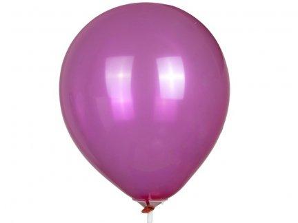 Balony Crystal Amarant 100szt  [Zestaw - 10 paczek]