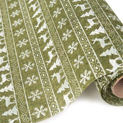 Tkanina Bieżnik Jutowy Zielony