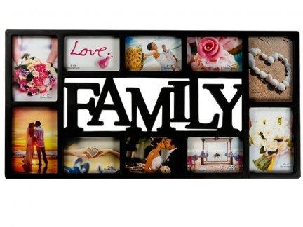 MULTIRAMKA na Zdjęcia Family Czarna [Komplet- 5 sztuk ]