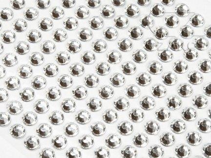Kryształki samoprzylepne 4mm Transparent  [10 Blistrów]