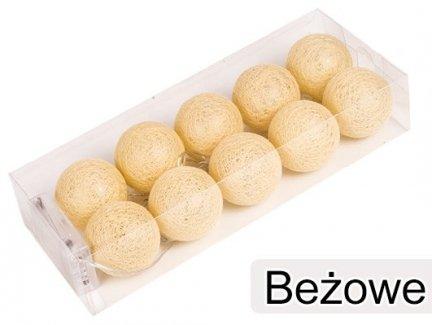 Cotton Balls Kolor Beżowe [Zestaw - 5 Kompletów]