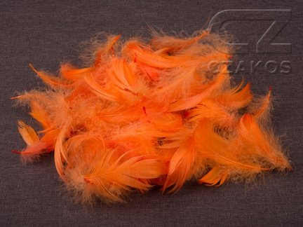 Piórka w torebce - Pomarańcz [Komplet 10szt.]