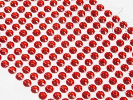 Kryształki samoprzylepne 8mm Czerwony [10 Blistrów]