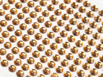 Kryształki samoprzylepne 4mm Bursztyn [10 Blistrów]