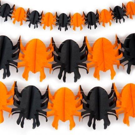Girlanda Pająk Halloween 3D [Komplet 10szt]