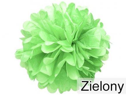 Pompony Papierowe Zielone 25cm Małe [Komplet - 20 Sztuk]
